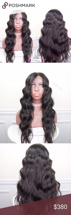 Brazilian Beach Waves Lace Closure Custom Wig Brazilian Loose Wave (Beach Waves) Lace Closure Custom Wig | Styled Beach Waves | 100% Brazilian Straight Hair | 18 inch Lace Closure (Non-Customized) | 3 Bundles of Brazilian Straight 18/20/22 inches | Natural Black Color 