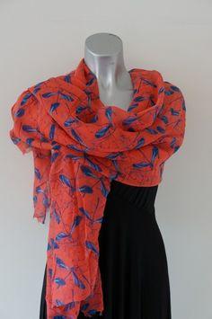 Libelle roze sjaal
