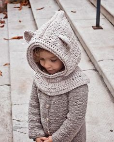 Polar Bear Hooded Cowl | Craftsy