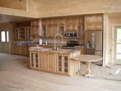 Check out this HUGE custom kitchen in one of our homeowners cabins.. This would be a dream for anyone who loves to cook in the kitchen!