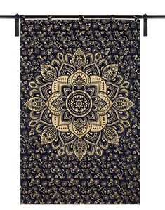 Mandala Indian Curtains Wall Hangings Decor Twin Drapery Hippie Bohemian Golden Ombre Handmade Curtains Panel Handmade Door Scarf Bohemian Quilt, Hippie Bohemian, Cotton Curtains, Cotton Fabric, Indian Curtains, Mandala Curtains, Indian Quilt, Coverlet Bedding, Blue Quilts