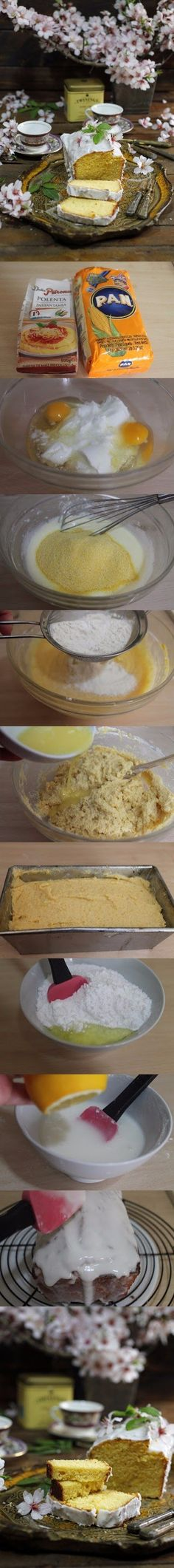 Exquisito bizcocho de harina amarilla / http://cakesparati.blogspot.com.es