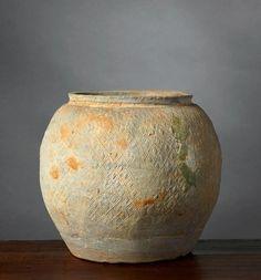 POT VIETNAM, PERIODE HAN-VIET, 1ER-3E SIÈCLE. Terre cuite grise. H. 17 cm. A…