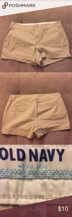 Old Navy Khaki Shorts Like new.   Pet/Smoke free home.  Feel free to make me a reasonable offer : )  Happy to provide additional information or additional pictures just ask : )  Thanks for looking :) Old Navy Shorts