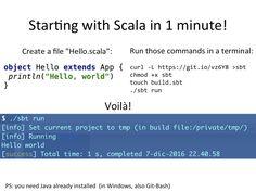 Starting with Scala | Sciabarra.com