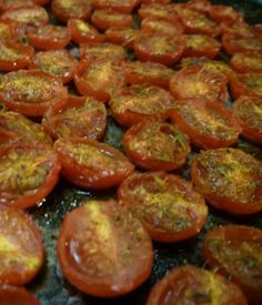 Pizza sauce with basil and roasted cherry tomatoes