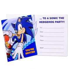 Sonic the Hedgehog Invitations (8 count) Party Accessory