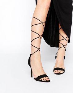 90s style // Casarolo, Aldo. #black #strappy #sandals #heels