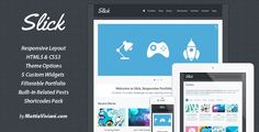 Slick is a full Responsive Portfolio theme for WordPress. It's designed for agencies, creative professionals, designers, it simply fits for any kind of business. Slick comes with a really amazing responsive fluid layout which allow to display your website on every device. It comes with filterable and animated Portfolio, fluid Homepage Slider, integrated Twitter plugin, Latest Work widget, Latest Blog Post widget, social media buttons and contact form, shortcodes, options panel