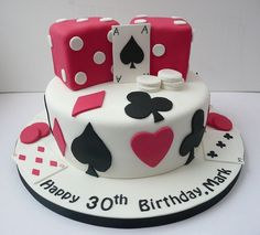 Coolest Birthday Cake Ever! More ideas: http://www.internetbet.com/casino-cakes/ #BirthdayCake #CakeIdeas #30thbirthday