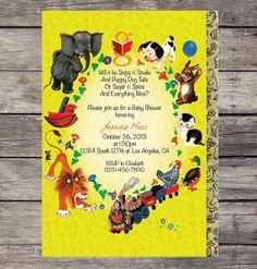 DIY Little Golden Books Inspired Theme Baby Shower by PRINTAGRAM, $12.00