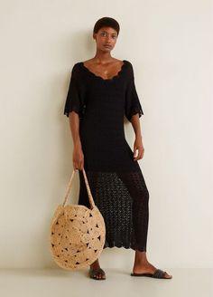 MANGO - Female - Jute shopper bag medium brown mango - Medium brown - U Chic Summer Outfits, Jute Fabric, Clem, Mango Fashion, Shopper Bag, Manga, Duffy, Lace Skirt, Jute