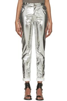Isabel Marant Silver Metallic Jada Trousers | Fashion & Lifestyle for tall women | tall clothing | tall style | tall ootd | long arms | long legs | tall clothes