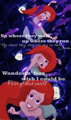 The little mermaid. Song has been stuck in my head!