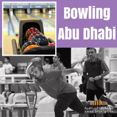 Bring colleagues, friends and family to a fun day of bowling. Abu Dhabi Zayed Sports City has a world-class bowling centre for bginners and professionals. World Class, Abu Dhabi, Bowling, Baseball Cards, Sports, Fun, Hs Sports, Sport, Hilarious