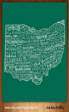 Ohio university ohio map up for sale now! @Allie Willis  I know u wanted this earlier! Found!