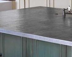 Zinc countertop in an Arts & Crafts reproduction kitchen