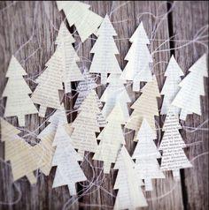 árboles de navidad de papel ...: