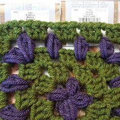 Crochet Chiq: Grapes and Vine Granny Square  (cool looking granny square pattern)