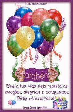 Feliz Aniversário! Que Deus te abençoe com saude, Amor, paz e felicidade!!!!