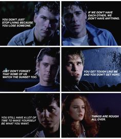 """Johnny's should be """"Stay Gold"""" but I still love all these quotes. although I love everything from The Outsiders☀️"""