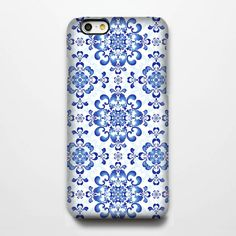 Classic Blue Floral Pattern iPhone 6 Plus/6/5S/5C/5/4S/4 Protective Case #287