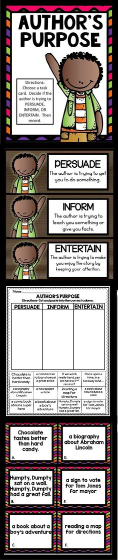 15 Best Authors Purpose Activities Images In 2016 Authors