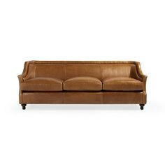 """Charter Leather 91"""" Sofa in Amadeus Whiskey"""