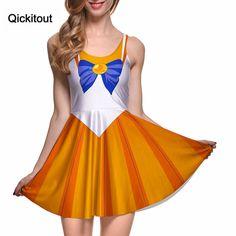Qickitout Dress Sexy Japanese Anime Sailor Moon Cosplay soldier Adult Halloween Fancy Dress Costume Sailormoon women girl