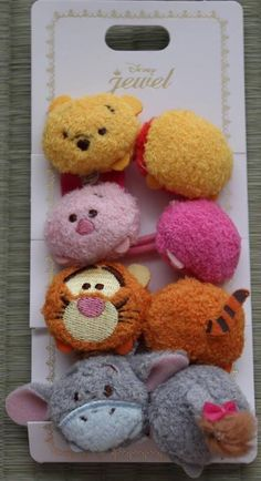 Tsum tsum hair ties awwww