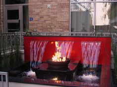 Fire Pit and water feature in one.