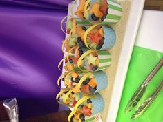 Buckets of fruit Healthy and fun party food for kids parties Mermaid party food
