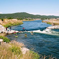 One perfect day in Cascade, ID.  Family spent afternoon floating river on tubes.