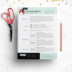 Check out Mint Resume & Cover Letter Template by JannaLynnCreative on Creative Market