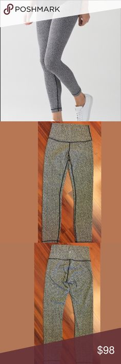 Lululemon High Times Pant Size 4 Houndstooth Teeny Tooth print. Perfect condition. Reasonable offers are always welcome! (offers less than 50% of listing price=automatic rejection) 🚫trades! My items sell fast, particularly new listings. I offer 20% off bundles of only 3+ items. NO OFFERS ON BUNDLES. Buy 4+ and get 25% off but you must contact me beforehand. All of my Lululemon items are smoke-free, free of defects, very well taken care of, washed & hung to dry (never thrown in a dryer)…