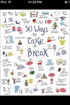 50 Ways To Take A Break, And The Essential First Step Of Remembering Managing stress is crucial to controlling your IC. How do you manage your every day stress?Managing stress is crucial to controlling your IC. How do you manage your every day stress? Coaching, When Youre Feeling Down, Self Improvement, Self Help, Self Care, No Time For Me, Just In Case, Positivity, Words
