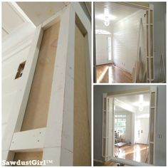 How to build decorative columns in a doorway. Sawdust girl
