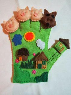 Dedoches   Luva dos três porquinhos ~ Arte De Fazer   Decoração e Artesanato