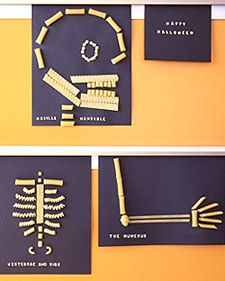 pasta skeletons to teach the skeletal system
