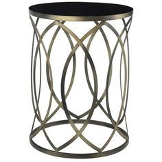 Convenience Concepts Gold Coast Round Accent End Table ($106) ❤ liked on Polyvore featuring home, furniture, tables, accent tables, gold, circular side table, round occasional tables, circular table, circular end table and round accent table