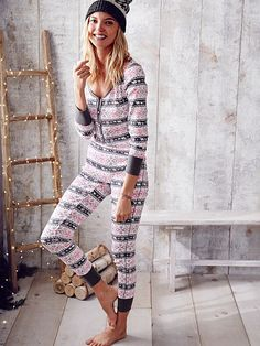 Fireside Onesie Pajama The Fireside Collection    THEY USUALLY GO ON SALE FOR…