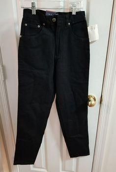 d78b0fb7bbb Bugle Boy Slim Fit Black Jeans Womens size 2 SH NWT