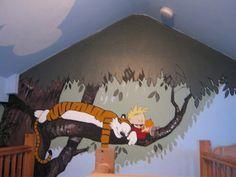 calvin and hobbes mural