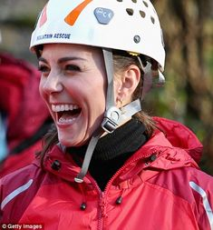 Kate was in high spirits during the action-packed day out...