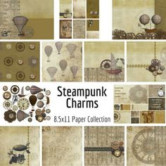 Steampunk Charms Collection