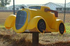Custom classic car mailbox.