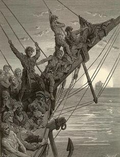 A selection Gustave Dore art prints from the Rime of the Ancient Mariner Gustave Dore, Saint Dominique, Fairytale Art, Lost Art, Wood Engraving, Paris, French Artists, Dark Art, Printmaking