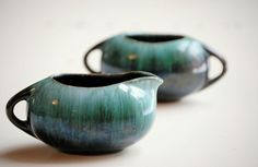Vintage Blue Mountain Pottery Cream and Sugar Set  by TheZoeBird, $19.00