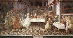 Filippo Lippi, Il Banchetto di Erode, affresco, 1452-65 (Prato, cattedrale di Santo Stefano)