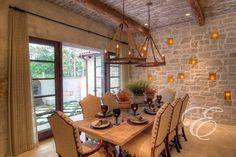 Tuscan Farmhouse - mediterranean - dining room - houston - Eklektik Interiors